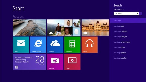 Microsoft Windows 8.1 Smart Search